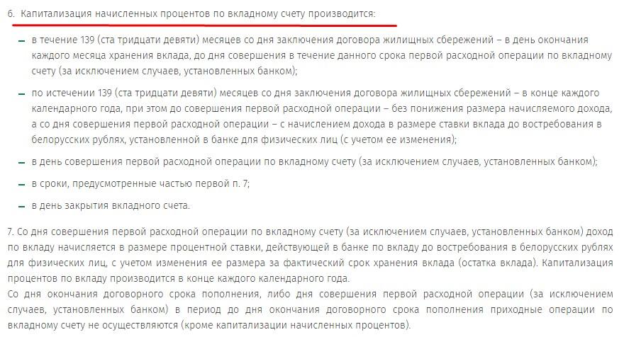Вклад стройсбережения Беларусбанка