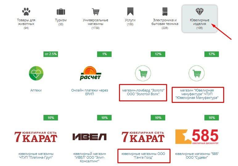 Партнеры-магазины карты «Бархат» Беларусбанка